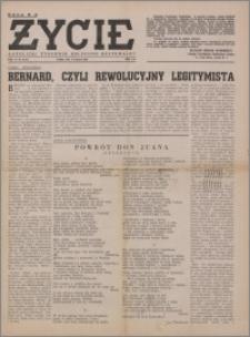 Życie : katolicki tygodnik religijno-społeczny 1949, R. 3 nr 33 (112)