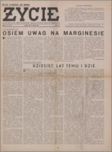 Życie : katolicki tygodnik religijno-społeczny 1949, R. 3 nr 35 (114)