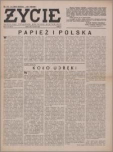 Życie : katolicki tygodnik religijno-społeczny 1949, R. 3 nr 36 (115)