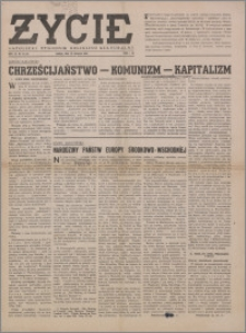Życie : katolicki tygodnik religijno-społeczny 1949, R. 3 nr 46 (125)