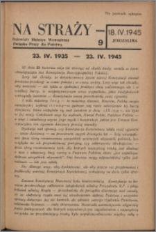 Na Straży : biuletyn wewnętrzny Związku Pracy dla Państwa 1945 nr 9