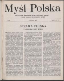 Myśl Polska : dwutygodnik poświęcony życiu i kulturze narodu 1943 nr 41