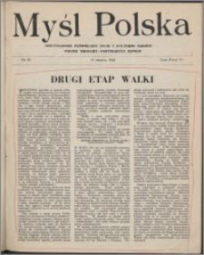 Myśl Polska : dwutygodnik poświęcony życiu i kulturze narodu 1943 nr 52