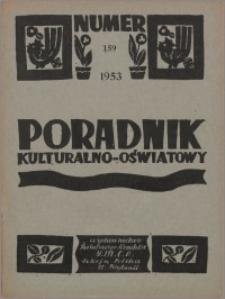 Poradnik Kulturalno-Oświatowy : wydawnictwo Światowego Komitetu YMCA, Sekcja Polska w W. Brytanii 1953, R. 14 nr 159