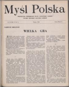 Myśl Polska : dwutygodnik poświęcony życiu i kulturze narodu 1946, R. 6 nr 1 (96)