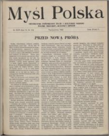 Myśl Polska : dwutygodnik poświęcony życiu i kulturze narodu 1946, R. 6 nr 3-4 (98-99)