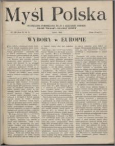 Myśl Polska : dwutygodnik poświęcony życiu i kulturze narodu 1946, R. 6 nr 5 (100)
