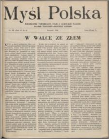Myśl Polska : dwutygodnik poświęcony życiu i kulturze narodu 1946, R. 6 nr 6 (101)
