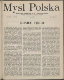 Myśl Polska : dwutygodnik poświęcony życiu i kulturze narodu 1946, R. 6 nr 7 (102)