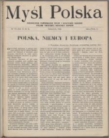 Myśl Polska : dwutygodnik poświęcony życiu i kulturze narodu 1946, R. 6 nr 8 (103)