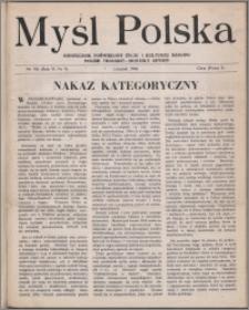 Myśl Polska : dwutygodnik poświęcony życiu i kulturze narodu 1946, R. 6 nr 9 (104)