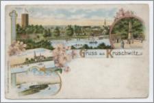 Gruss aus Kruschwitz : Mäusethurm, Kaiser-Denkmal, Kath.-Kirche, Insel Adelka i. Goplasee