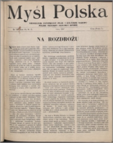 Myśl Polska : miesięcznik poświęcony życiu i kulturze narodu 1947, R. 7 nr 2 (107)