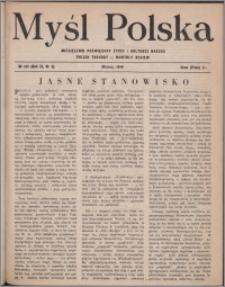 Myśl Polska : miesięcznik poświęcony życiu i kulturze narodu 1949, R. 9 nr 3 (132)