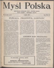 Myśl Polska : dwutygodnik poświęcony życiu i kulturze narodu 1950, R. 10 nr 1 (144)