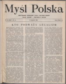 Myśl Polska : dwutygodnik poświęcony życiu i kulturze narodu 1950, R. 10 nr 2 (145)