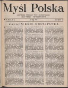Myśl Polska : dwutygodnik poświęcony życiu i kulturze narodu 1950, R. 10 nr 4 (147)