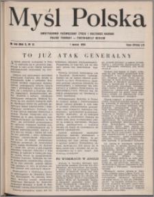 Myśl Polska : dwutygodnik poświęcony życiu i kulturze narodu 1950, R. 10 nr 5 (148)