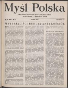 Myśl Polska : dwutygodnik poświęcony życiu i kulturze narodu 1950, R. 10 nr 6 (149)