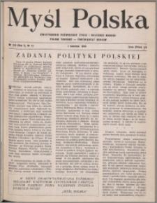 Myśl Polska : dwutygodnik poświęcony życiu i kulturze narodu 1950, R. 10 nr 7 (150)