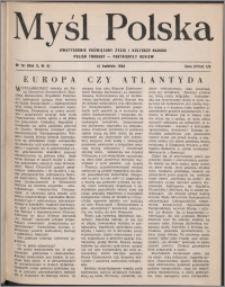 Myśl Polska : dwutygodnik poświęcony życiu i kulturze narodu 1950, R. 10 nr 8 (151)
