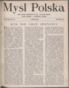 Myśl Polska : dwutygodnik poświęcony życiu i kulturze narodu 1950, R. 10 nr 11 (154)