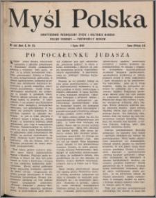 Myśl Polska : dwutygodnik poświęcony życiu i kulturze narodu 1950, R. 10 nr 13 (156)