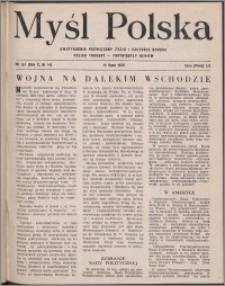 Myśl Polska : dwutygodnik poświęcony życiu i kulturze narodu 1950, R. 10 nr 14 (157)