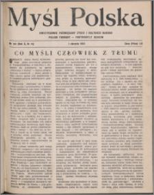 Myśl Polska : dwutygodnik poświęcony życiu i kulturze narodu 1950, R. 10 nr 15 (158)