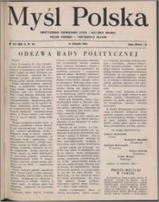 Myśl Polska : dwutygodnik poświęcony życiu i kulturze narodu 1950, R. 10 nr 16 (159)