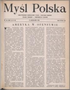 Myśl Polska : dwutygodnik poświęcony życiu i kulturze narodu 1950, R. 10 nr 19 (162)
