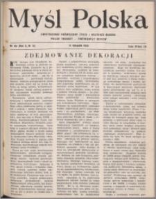 Myśl Polska : dwutygodnik poświęcony życiu i kulturze narodu 1950, R. 10 nr 21 (164)