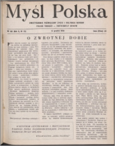 Myśl Polska : dwutygodnik poświęcony życiu i kulturze narodu 1950, R. 10 nr 23 (166)