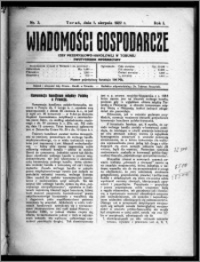 Wiadomości Gospodarcze Izby Przemysłowo-Handlowej w Toruniu 1922, R. 1, nr 3
