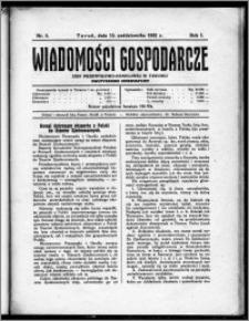 Wiadomości Gospodarcze Izby Przemysłowo-Handlowej w Toruniu 1922, R. 1, nr 8