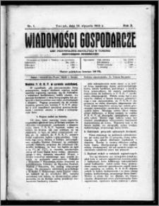 Wiadomości Gospodarcze Izby Przemysłowo-Handlowej w Toruniu 1923, R. 2, nr 1