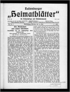 Rastenburger Heimatblätter für Heimatpflege und Geschichtskunde 1921, Nr. 10