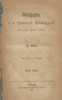 Geschichte des Landes Stargard : bis zum Jahre 1471 : mit Urkunden und Regasten. T. 1