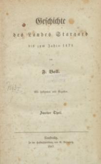 Geschichte des Landes Stargard : bis zum Jahre 1471 : mit Urkunden und Regasten. T. 2