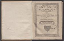 Cantionum Sacrarum Cum Sex, Septem, Octo, Et pluribus vocibus concinnatarum Ps 1. Quinta vox