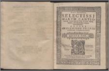 Selectissimarum Cantionum Sacrarum Cum Sex, Septem, Octo Et Pluribus Vocibus Concinnatarum Ps 2. Quinta vox