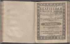 Canticum Beatissimæ Virginis Mariæ, Qvatuor, Qvinqve, Sex Et Pluribus Vocibus ... Quinta vox