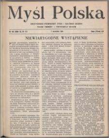 Myśl Polska : dwutygodnik poświęcony życiu i kulturze narodu 1951, R. 11 nr 17 (183)