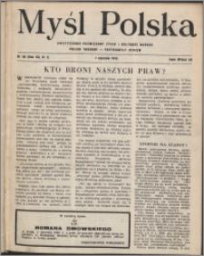 Myśl Polska : dwutygodnik poświęcony życiu i kulturze narodu 1952, R. 12 nr 1 (191)