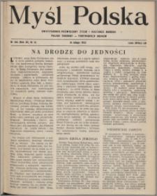 Myśl Polska : dwutygodnik poświęcony życiu i kulturze narodu 1952, R. 12 nr 4 (194)