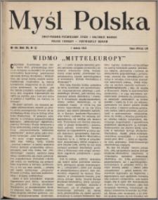 Myśl Polska : dwutygodnik poświęcony życiu i kulturze narodu 1952, R. 12 nr 5 (195)