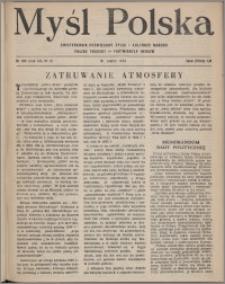 Myśl Polska : dwutygodnik poświęcony życiu i kulturze narodu 1952, R. 12 nr 6 (196)