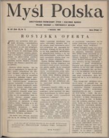 Myśl Polska : dwutygodnik poświęcony życiu i kulturze narodu 1952, R. 12 nr 7 (197)
