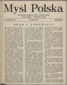 Myśl Polska : dwutygodnik poświęcony życiu i kulturze narodu 1952, R. 12 nr 8 (198)