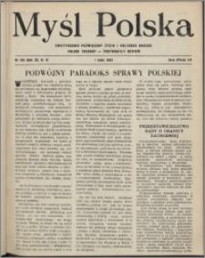 Myśl Polska : dwutygodnik poświęcony życiu i kulturze narodu 1952, R. 12 nr 9 (199)